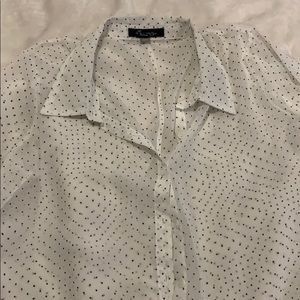 Forever 21 Tops - ‼️4 for $15‼️ Sheer white and black blouse